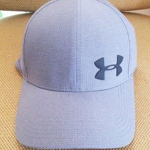 New Men's Under Armour Grey SPF 30 Hat sz Medium